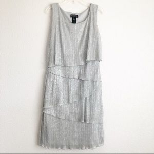 EnFocus Studio Sparkly Silver Dress Sz 6